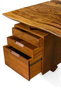 George Nakashima George Nakashima African Zebrawood Walnut Double Pedestal Desk - 1118321