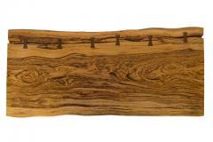George Nakashima George Nakashima African Zebrawood Walnut Double Pedestal Desk - 1118323