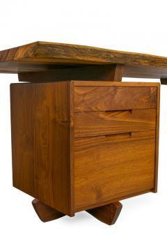 George Nakashima George Nakashima African Zebrawood Walnut Double Pedestal Desk - 1118324