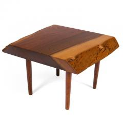 George Nakashima George Nakashima Black Walnut Free Edge Two Tier End Tables USA 1950s - 1030269