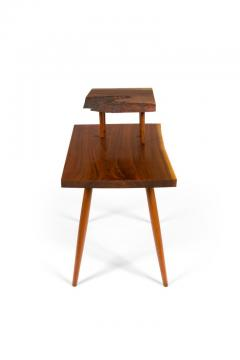 George Nakashima George Nakashima Black Walnut Free Edge Two Tier End Tables USA 1950s - 1030271