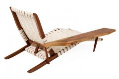 George Nakashima George Nakashima Black Walnut Long Chairs with Free Edge Armrest - 1194068