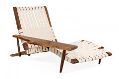 George Nakashima George Nakashima Black Walnut Long Chairs with Free Edge Armrest - 1194069