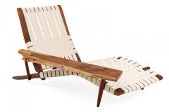 George Nakashima George Nakashima Black Walnut Long Chairs with Free Edge Armrest - 1194070