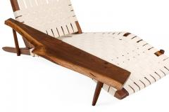 George Nakashima George Nakashima Black Walnut Long Chairs with Free Edge Armrest - 1194072