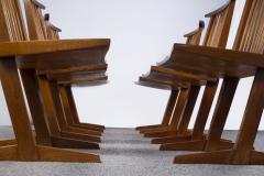 George Nakashima George Nakashima Conoid Dining Set in Sap Walnut with Free Form Edges 6 Chairs - 1930695