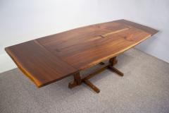 George Nakashima George Nakashima Conoid Dining Set in Sap Walnut with Free Form Edges 6 Chairs - 1930699