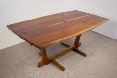George Nakashima George Nakashima Conoid Dining Set in Sap Walnut with Free Form Edges 6 Chairs - 1930701