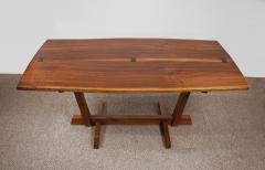 George Nakashima George Nakashima Conoid Dining Set in Sap Walnut with Free Form Edges 6 Chairs - 1930702