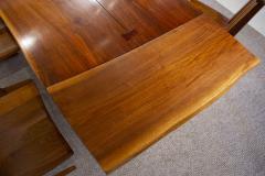 George Nakashima George Nakashima Conoid Dining Set in Sap Walnut with Free Form Edges 6 Chairs - 1930704