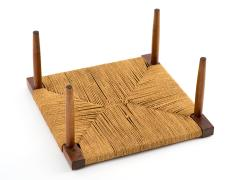 George Nakashima George Nakashima Fitch Stool Ottoman in Walnut with Grass Cord Seat - 512594
