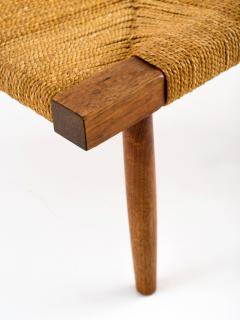 George Nakashima George Nakashima Fitch Stool Ottoman in Walnut with Grass Cord Seat - 512595