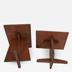 George Nakashima George Nakashima Pair Minguren side tables 1979 - 1642823