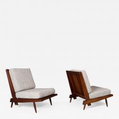 George Nakashima George Nakashima Pair of Armless Cushion Chairs 1950s - 1962664