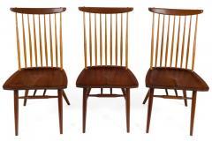George Nakashima George Nakashima Set of Six Walnut and Hickory New Chairs  - 1233338