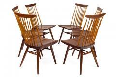 George Nakashima George Nakashima Set of Six Walnut and Hickory New Chairs  - 1233341