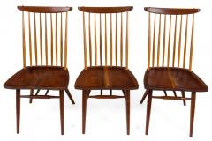 George Nakashima George Nakashima Set of Six Walnut and Hickory New Chairs  - 1233342