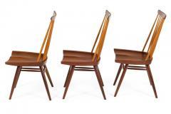 George Nakashima George Nakashima Set of Six Walnut and Hickory New Chairs  - 1233343