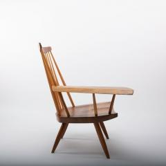 George Nakashima George Nakashima Walnut Lounge chair Sap Arm Right 1975 With COA - 1081249