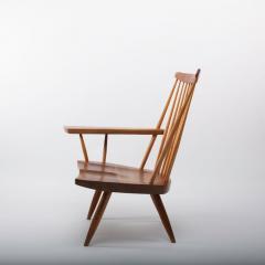 George Nakashima George Nakashima Walnut Lounge chair Sap Arm Right 1975 With COA - 1081251