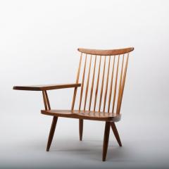 George Nakashima George Nakashima Walnut Lounge chair Sap Arm Right 1975 With COA - 1081253