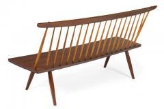 George Nakashima George Nakashima Walnut Spindle Back Bench - 1137713