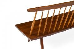 George Nakashima George Nakashima Walnut Spindle Back Bench - 1137716