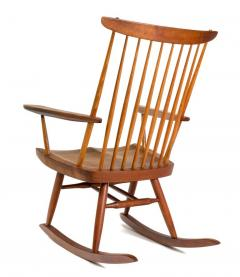 George Nakashima George Nakashima Walnut and Poplar New Chair Rocker USA 1961 - 734611
