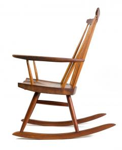 George Nakashima George Nakashima Walnut and Poplar New Chair Rocker USA 1961 - 734612