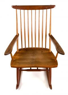 George Nakashima George Nakashima Walnut and Poplar New Chair Rocker USA 1961 - 734614
