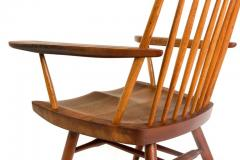 George Nakashima George Nakashima Walnut and Poplar New Chair Rocker USA 1961 - 734615