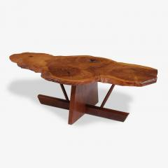 George Nakashima George and Mira Nakashima English Oak Walnut and Hickory Minguren Coffee Table - 700960
