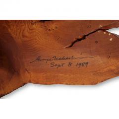 George Nakashima George and Mira Nakashima English Oak Walnut and Hickory Minguren Coffee Table - 700961