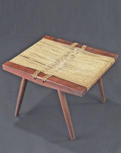 George Nakashima Grass seated Stool by George Nakashima - 263207