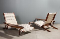 George Nakashima Long Chair with Single Free Form Arm by George Nakashima - 1052086