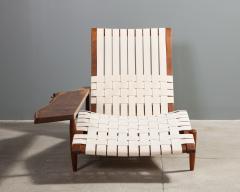 George Nakashima Long Chair with Single Free Form Arm by George Nakashima - 1052087