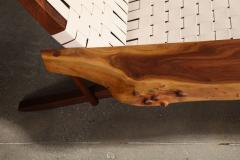 George Nakashima Long Chair with Single Free Form Arm by George Nakashima - 1052090