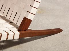 George Nakashima Long Chair with Single Free Form Arm by George Nakashima - 1052091