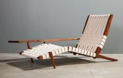 George Nakashima Long Chair with Single Free Form Arm by George Nakashima - 1052092