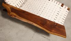 George Nakashima Long Chair with Single Free Form Arm by George Nakashima - 1052093