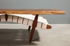 George Nakashima Long Chair with Single Free Form Arm by George Nakashima - 1052096