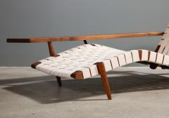 George Nakashima Long Chair with Single Free Form Arm by George Nakashima - 1052098