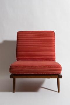 George Nakashima Chairs george nakashima - pair of george nakashima walnut lounge chairs