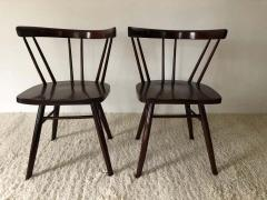 George Nakashima Pair of Walnut Nakashima Style Midcentury Chairs - 1735805