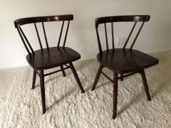 George Nakashima Pair of Walnut Nakashima Style Midcentury Chairs - 1735806