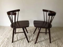 George Nakashima Pair of Walnut Nakashima Style Midcentury Chairs - 1735822