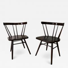 George Nakashima Pair of Walnut Nakashima Style Midcentury Chairs - 1737124