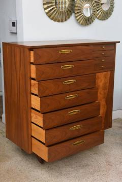 George Nakashima Rare American Modern Walnut and Burl Walnut Highboy George Nakashima - 389404