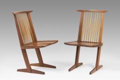 George Nakashima Set of 8 Conoid chairs - 987755