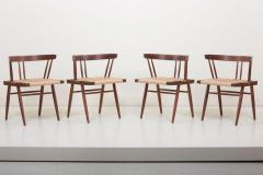 George Nakashima Set of Eight Grass Seated Dining Chairs by George Nakashima - 1134837